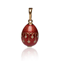 Tatiana Fabergé hanger rood emaille zirkoon F015r