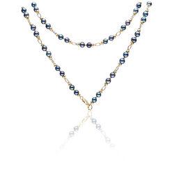 Lang collier zwarte parels van Fabergé HP10