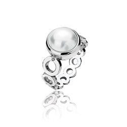 Hot Diamonds Ring Parelmoer Parel