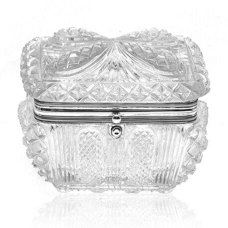 Empire kristallen theebus met zilver 1833 jacob Helweg