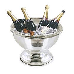 Grote ronde verzilverde champagnekoeler