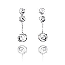 Hot Diamonds oorhangers Eternity Spiral