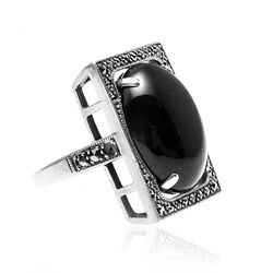 Ring Onyx En Markasiet