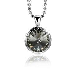 Zinzi super sale ronde hanger zwart Swarovski Crystal Zih1055z