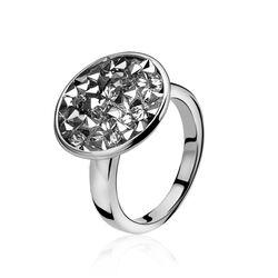 Zilveren ring Swarovski crystal rock Zinzi zir809