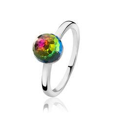 Zilveren ring multicolor crystal ZINZI ZIR1069m