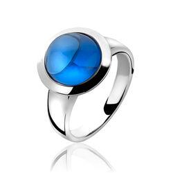 Zinzi Ring Blauw Cabochon Zirkonia Zir1043b