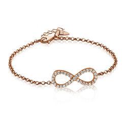 Rosé verguld zilver armbandje infinity zia1065r Zinzi