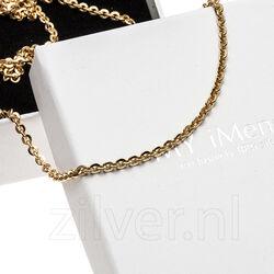 MY iMenso Jasseron Collier Flat Goud Verguld 27-0022 -45