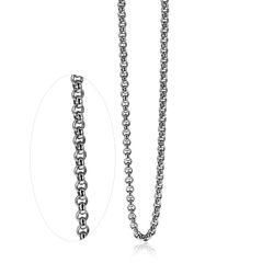 Zilveren ketting met ronde jasseronschakels van Zinzi ZIC1009