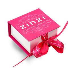 Ronde roséverguld zilver hangertje ZIH2005r Zinzi