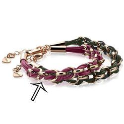 Zinzi zia1035rp gevlochten armband fuchsia