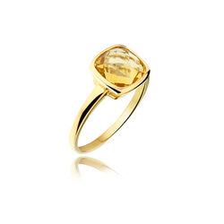 Geelgouden Ring Met Citrien