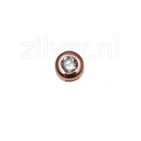 MY iMenso Jiving Klein Rondje Zirkonia Rose Goud Verguld 280106