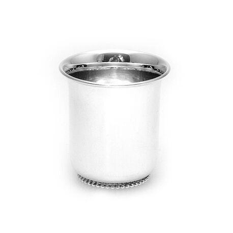kinderbeker zilver tulp parelrand klein