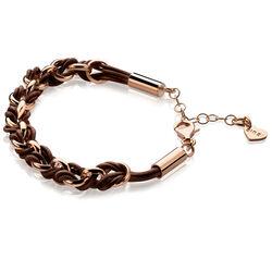 Zinzi Armband Rose Bruin Koord Zia1035rb