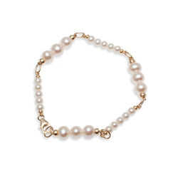 Faberge Armband Golled Filled Witte Parels