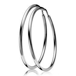 Zilveren creolen diameter 5,5 cm Zio437