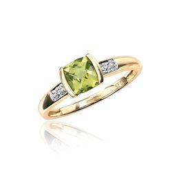 9 Krt ring peridot diamant GR337G