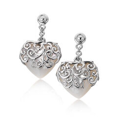 Hot Diamonds Wild Roses Heart Drop De286