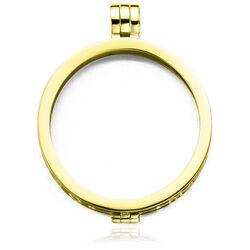 MY iMenso 33mm Zilveren Medaillon Geel Goud Verguld 330050-1