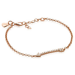 Rosé vergulde armband Cupido pijl van Zinzi zia1064r