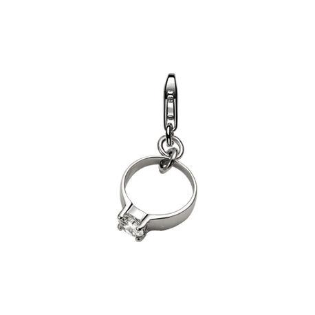 Zilveren bedel ring met zirconia Zinzi charms61