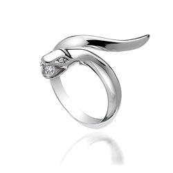 Hot Diamonds Zilveren Ring Slang Diamant Dr116