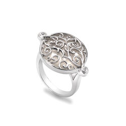 Hot Diamonds Ring Wild Roses Parelmoer Diamantjes Dr108
