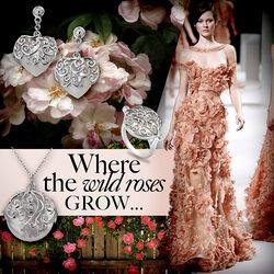 Zilveren ring wild roses Hot Diamonds