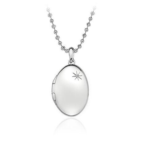 Zilver medaillon Hot Diamonds DP493
