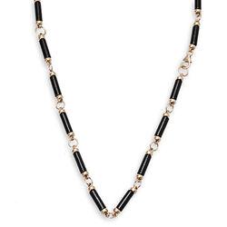 Maison Tatiana Fabergé ketting verguld zwart onyx