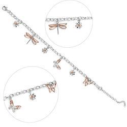 zilver armbandje met vlinder hangertjes Elements