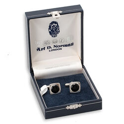 Juweliersrestant Zilveren Manchetknopen Onyx