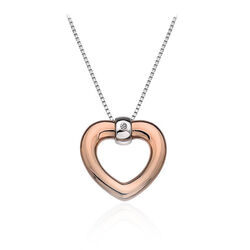 Hot Diamonds Collier Hart Rose Verguld Diamantje Dp518