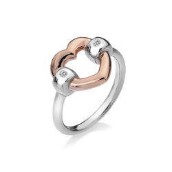 Hot Diamonds Ring Hart Diamantjes Rose Dr130