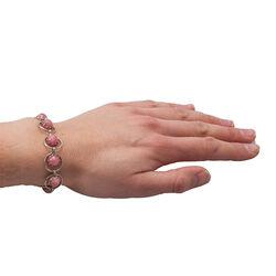 Occasion zilveren armband rozenquartz