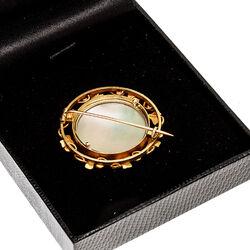 Antieke gouden broche medaillon