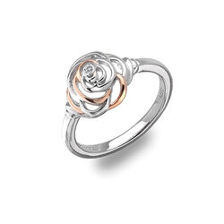 Hot Diamonds Ring Rose Vergulde Accenten Diamantje Dr123