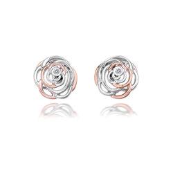 Hot Diamonds Oorbellen Rose Vergulde Accenten Diamantje De354