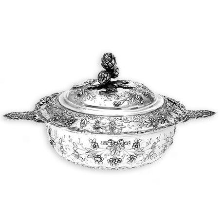 Zilveren dienschaal Ecuelle