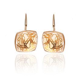 Gouden oorbellen citrien Superoro Ice