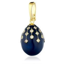 Faberge ei blauw emaille zirkoon goudverguld
