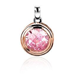 Rosé hangertje roze zirkonia zih050rr ZInzi