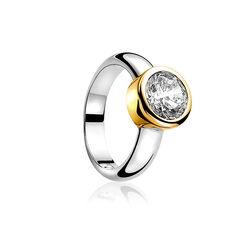 zilveren ring met vergulde zetting zir050y zinzi