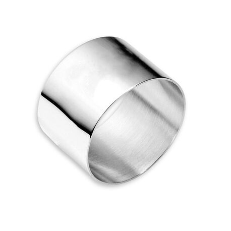 Verzilverde servet ring rond van Carrs