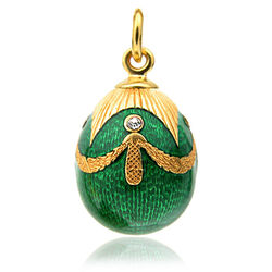 Faberge ei hanger groen emaille
