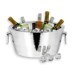 Stalen wijnkoeler met handvatten voor meerdere flessen