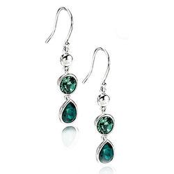 Elements zilveren oorbellen groen