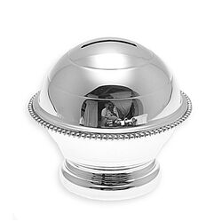 Zilveren spaarpot parelrand graveerbaar